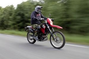Runar på sin motorcykel